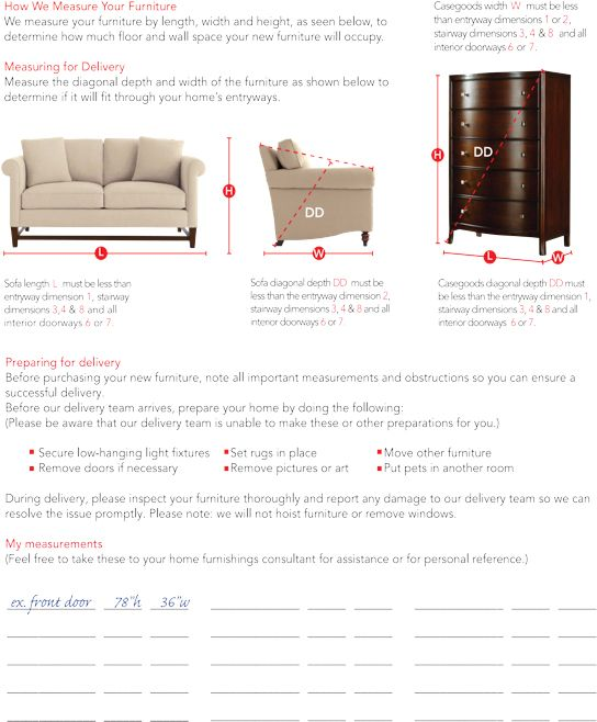 How to Measure furniture
