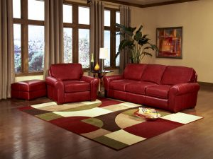 smith brothers 8000 series sofa in red