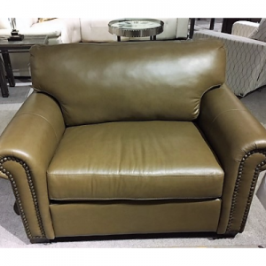 Legacy Leather Olive Chair U0026 1/2 Clearance