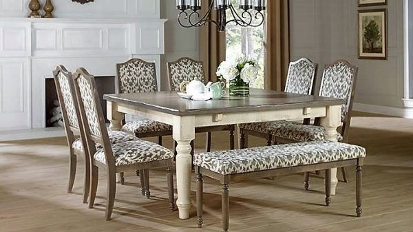 Distressed Dining Room Canadel Champlain Dining Collection